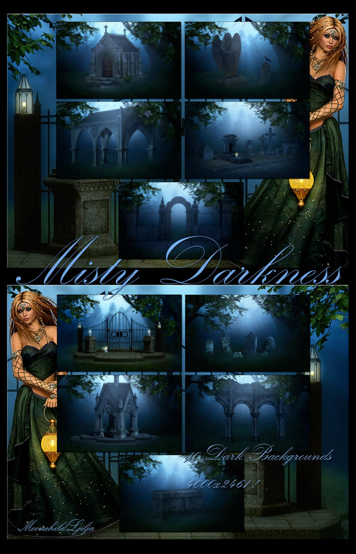 Misty Darkness backgrounds by moonchild-ljilja