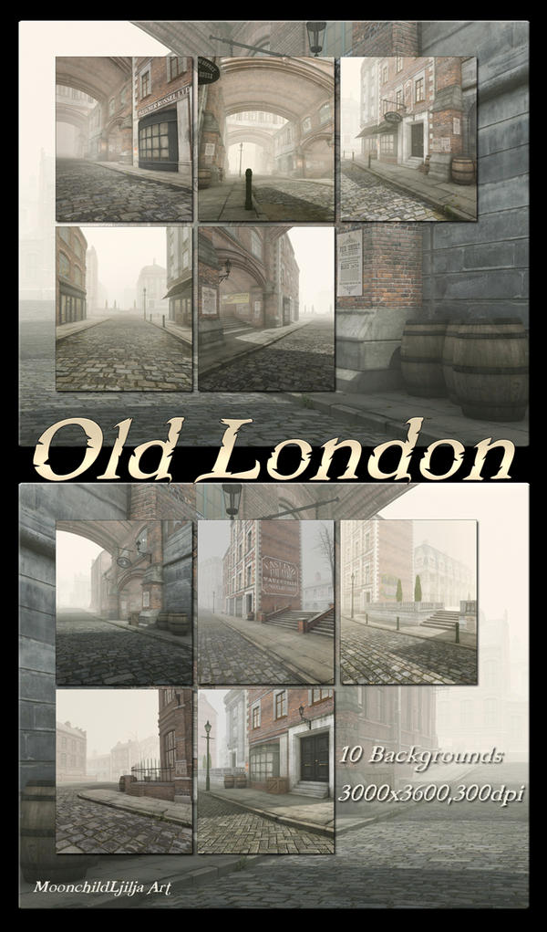 Old London backgrounds by moonchild-ljilja
