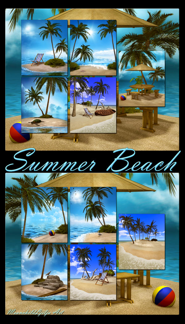 Summer beach backgrounds by moonchild-ljilja