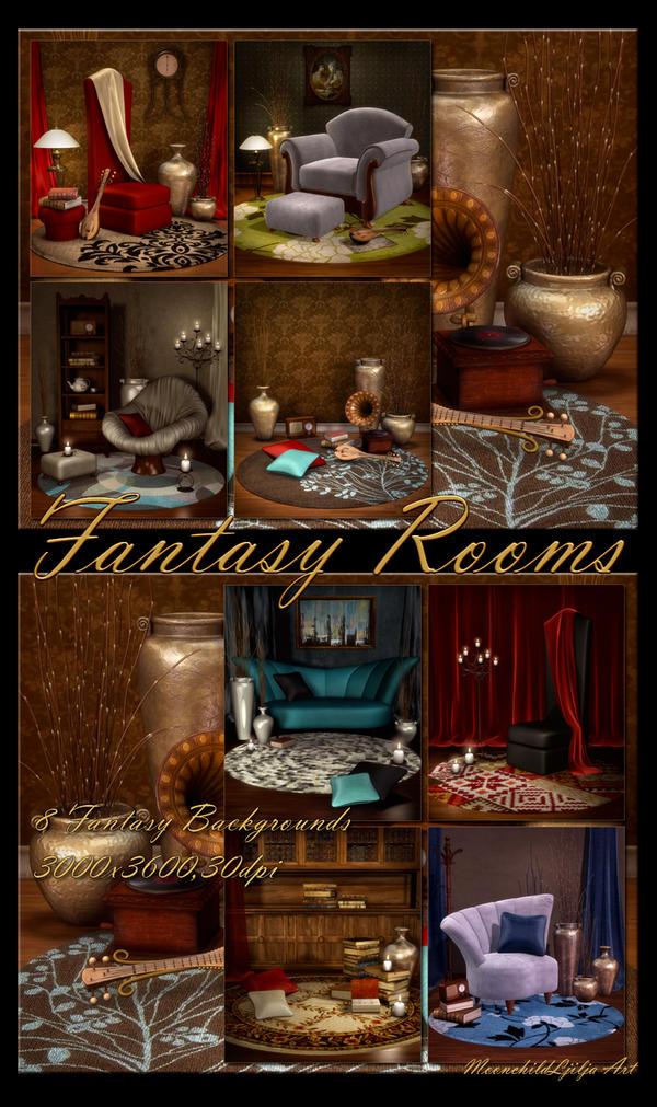 Fantasy Rooms backgrounds by moonchild-ljilja