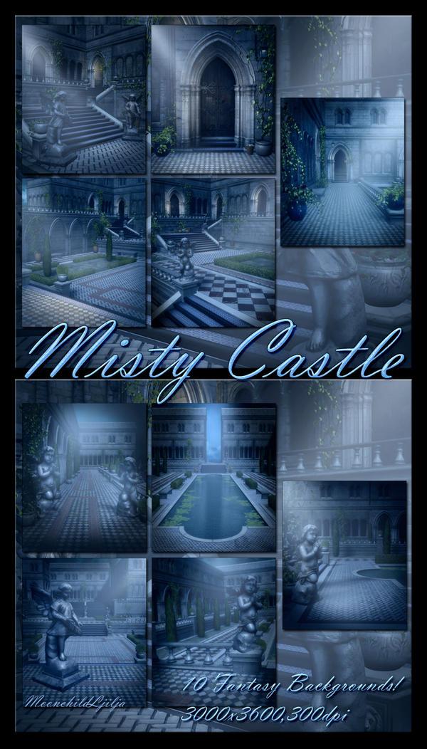 Misty Castle backgrounds by moonchild-ljilja