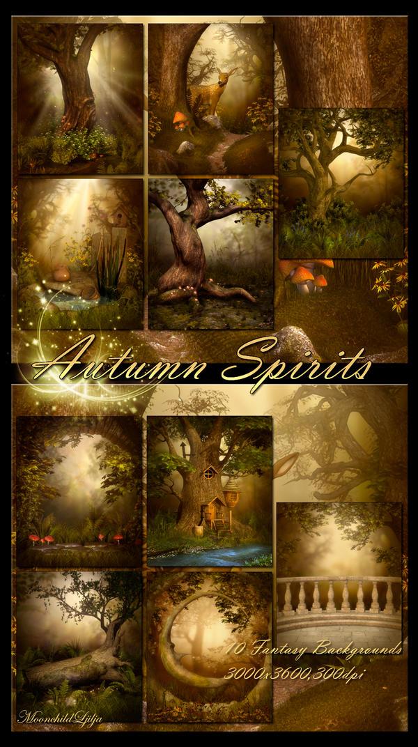 Autumn Spirits backgrounds by moonchild-ljilja