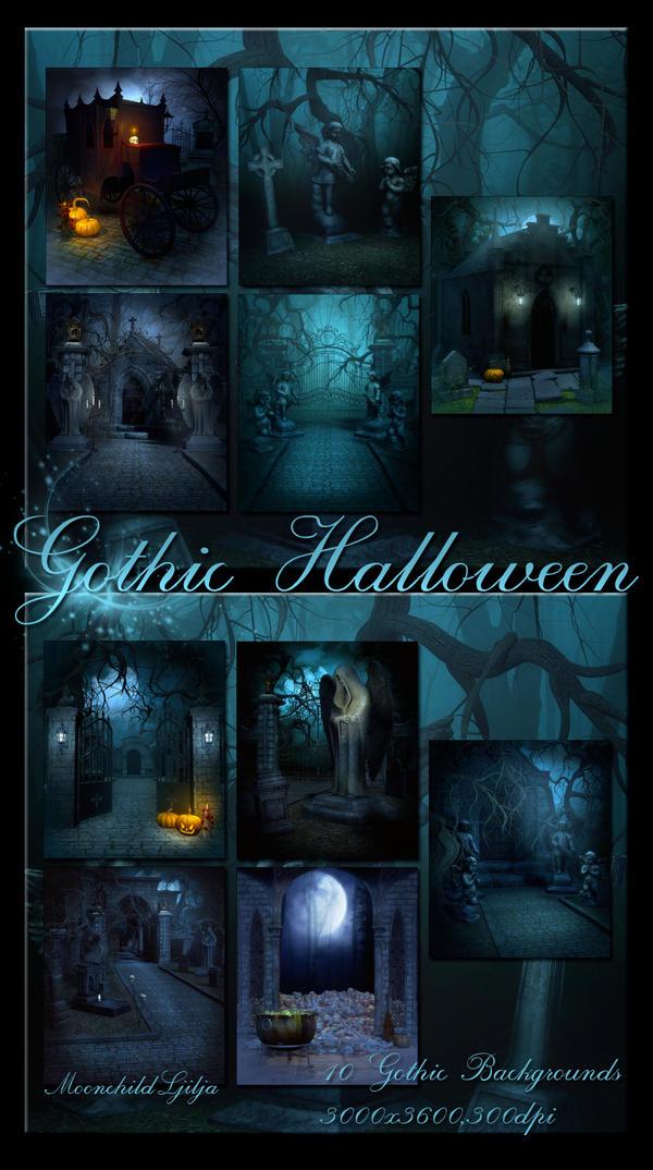 Gothic Halloween backgrounds by moonchild-ljilja