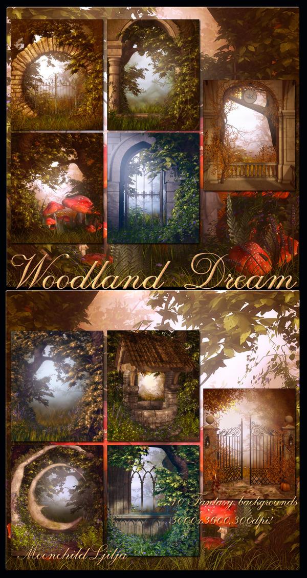 Woodland Dream backgrounds by moonchild-ljilja