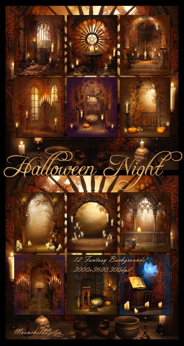 Halloween Night backgrounds by moonchild-ljilja