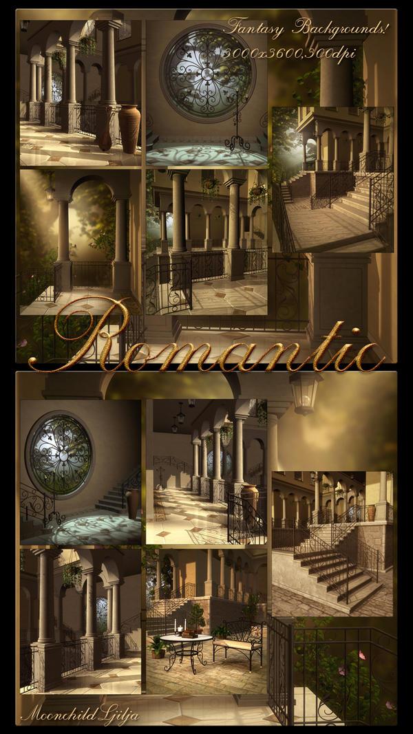 Romantic Backgrounds by moonchild-ljilja