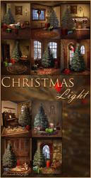 Christmas Light backgrounds by moonchild-ljilja