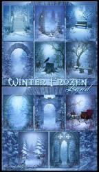 Winter Frozen land backgrounds by moonchild-ljilja