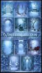 Winter Frozen land backgrounds