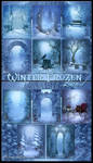 Winter Frozen land backgrounds