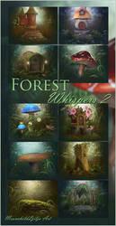 Forest Whispers 2 backgrounds by moonchild-ljilja