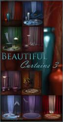 Beautiful Curtains 3 backgrounds by moonchild-ljilja