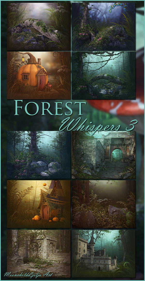 Forest Whispers 3 backgrounds by moonchild-ljilja