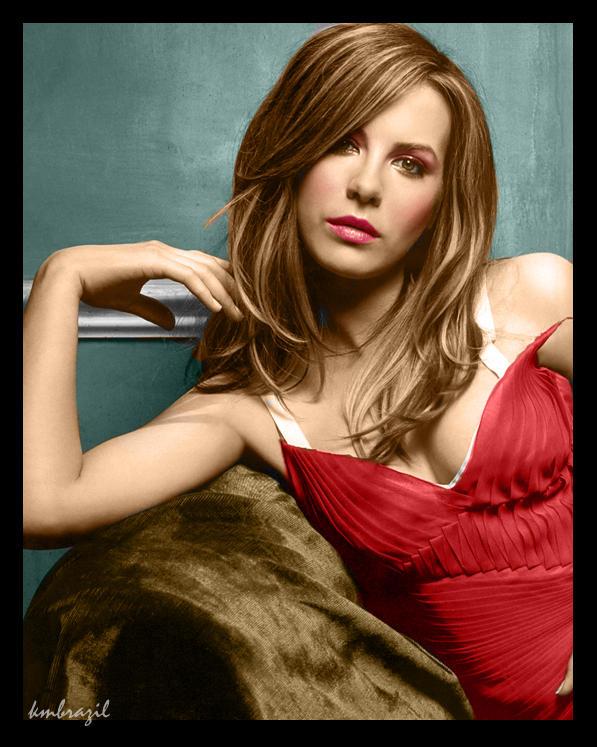 Colorization: Kate Beckinsale by purplink
