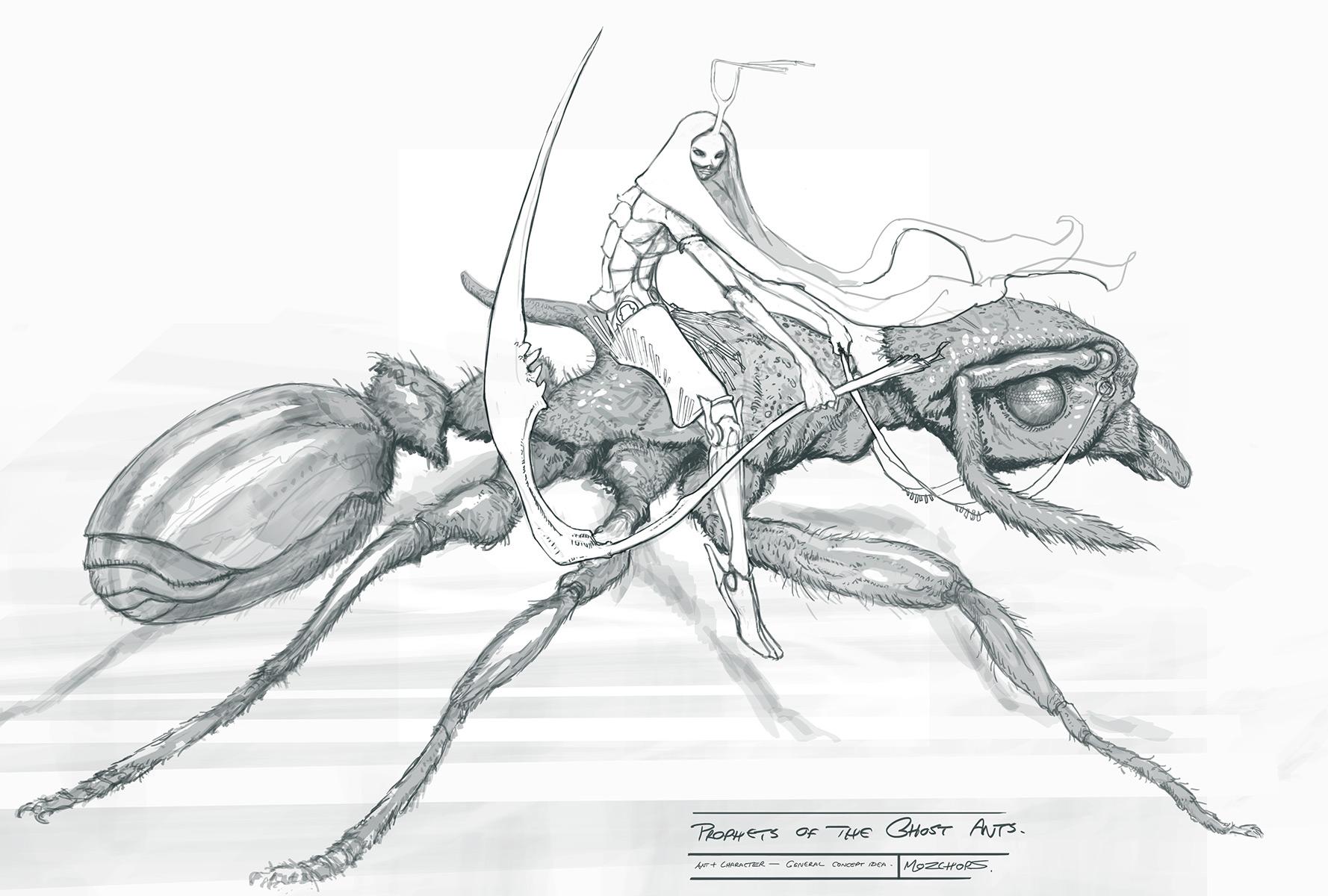 Female Warrior On Ant
