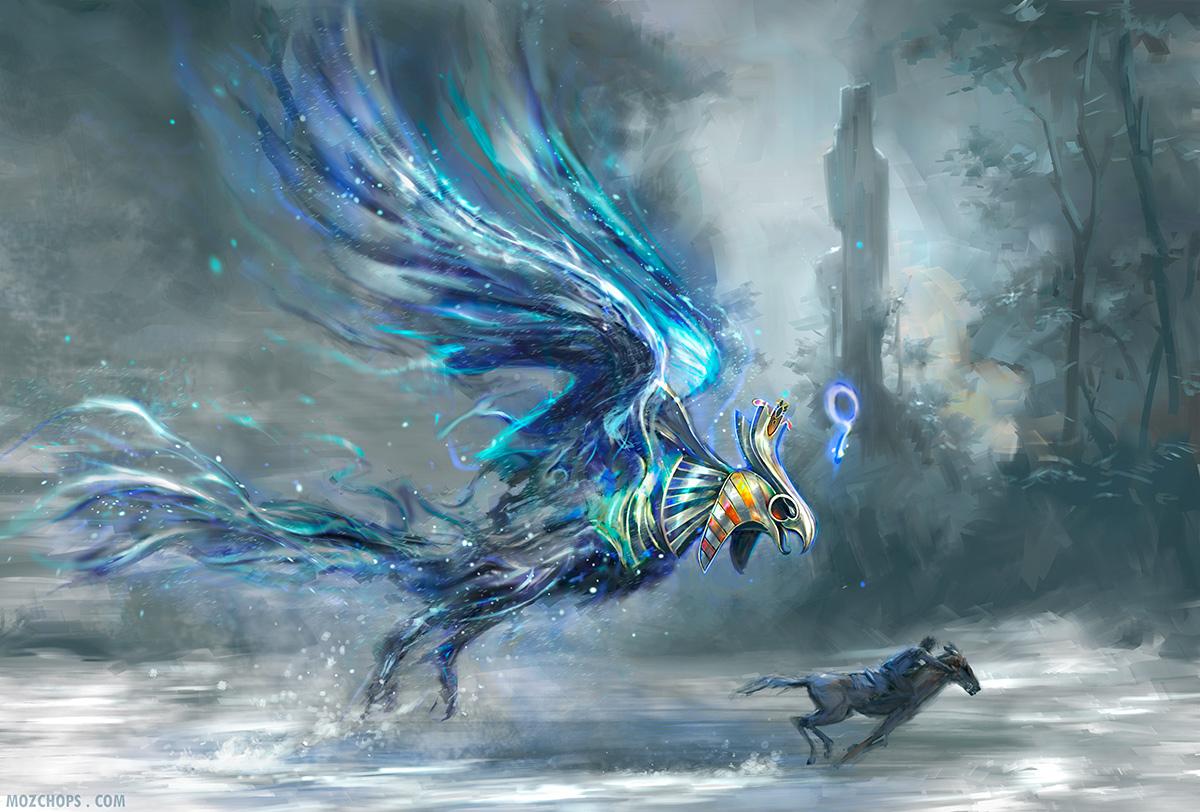 Eagle Vs Dragon Drawing Egyptian Terror Bird b...