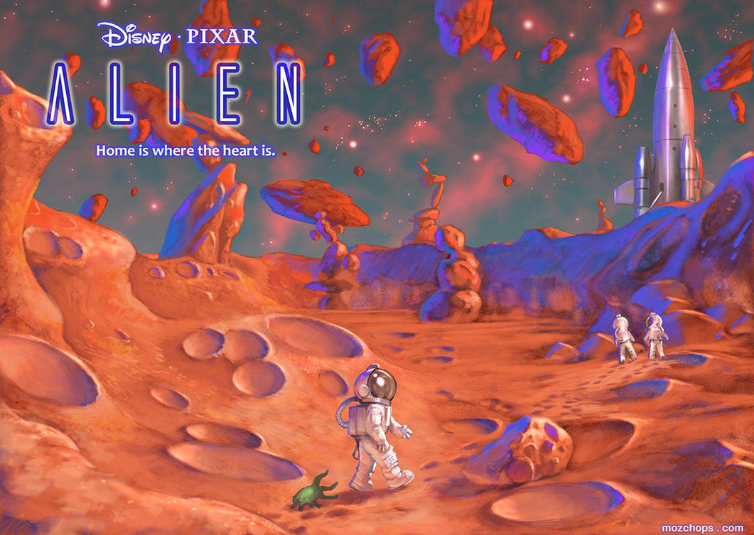New Disney/Pixar Alien concept art... by m0zch0ps