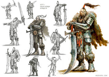 Kente (war counselor) HoMMVII concept sketches by m0zch0ps