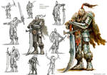 Kente (war counselor) HoMMVII concept sketches