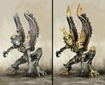 Gargoyles from HoMMVII 2 versions