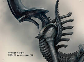 Alien IX Homage to Giger by Mozchops pt1 by m0zch0ps