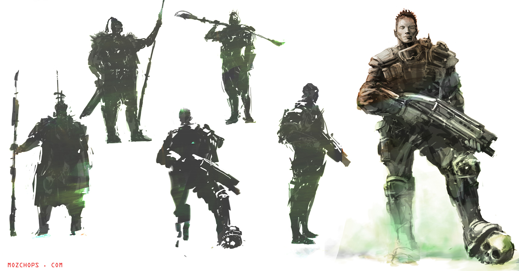 Sci-fi-Character-sketches-by-Mozchops by m0zch0ps