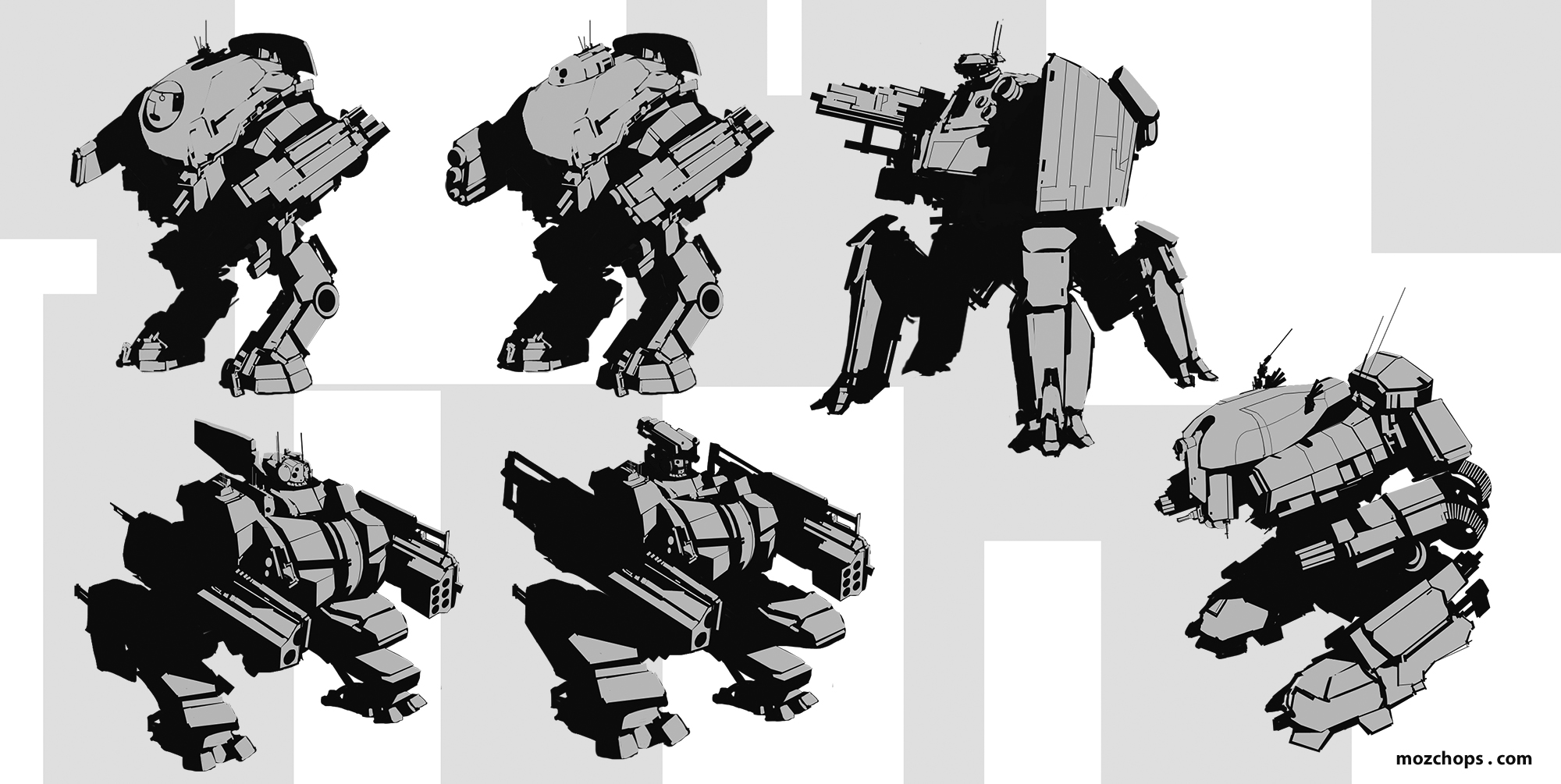 Heavy Mechs 04 by Mozchops by m0zch0ps