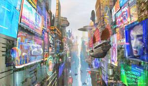 Mozchops_technicolor_city_concept_rough_01 by m0zch0ps