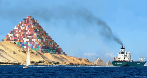 The New Pyramid of Giza by Mozchops