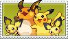 Pikachu Family Stamp by kalot3000