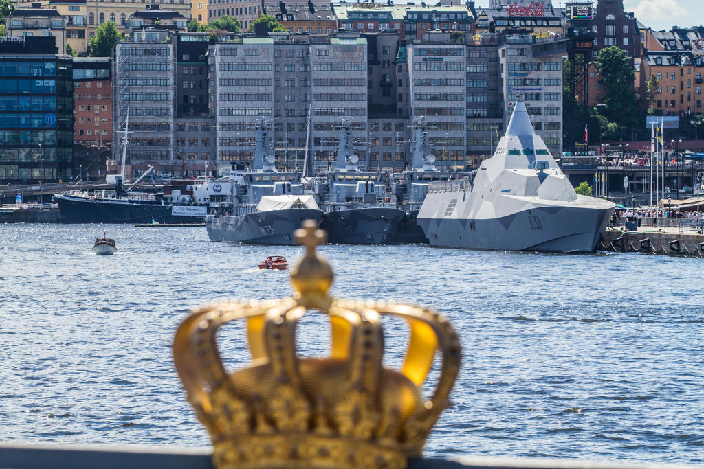 Swedish Navy Squadron at Skeppsbron by JRL5