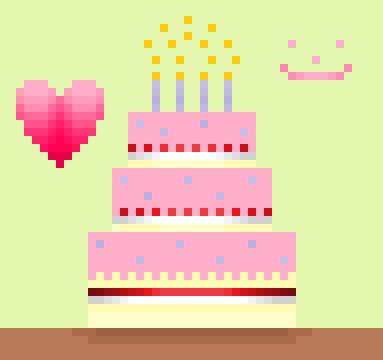 Pixel Art 3 Layer Cake by Stanleyjo on DeviantArt