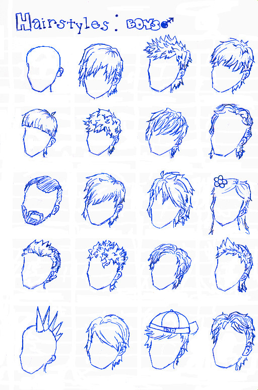 Boy Haircuts Drawing : Boy hairstyles by chocolatefishies on deviantart