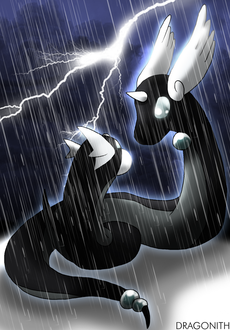 Black Dratini and Dragonair by Dragonith on DeviantArt