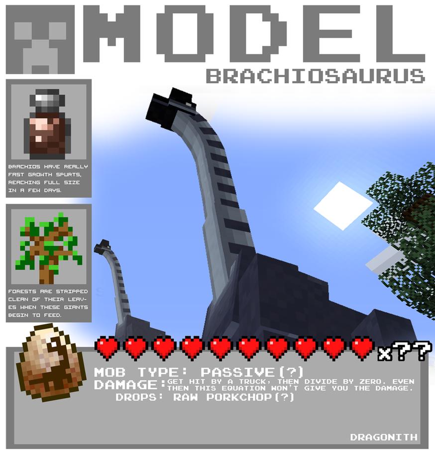 Minecraft - Brachiosaurus by Dragonith