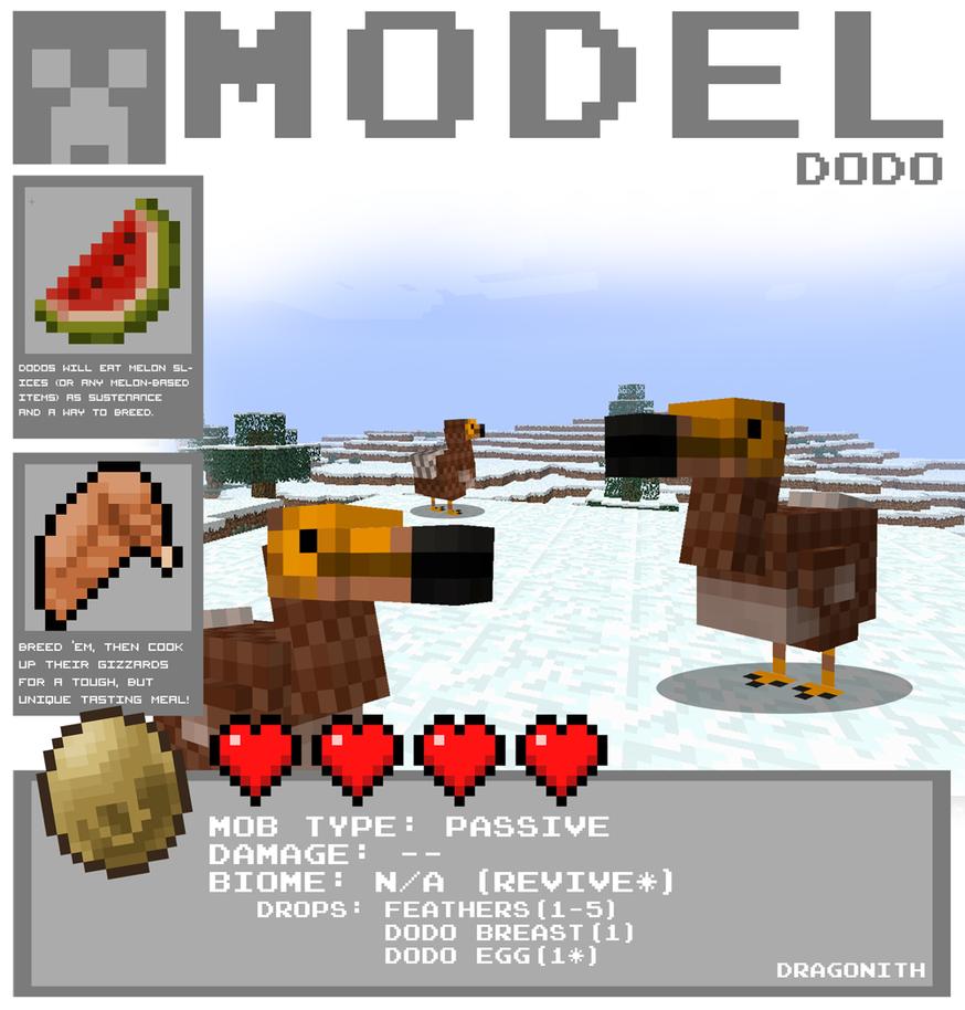 Minecraft - Dodo by Dragonith