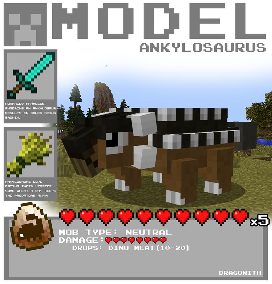 Minecraft - Ankylosaurus by Dragonith