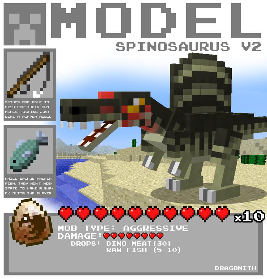 Minecraft spinosaurus v2 by dragonith