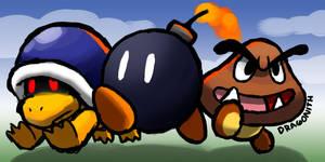 Bob, Buzzy, and Goomba