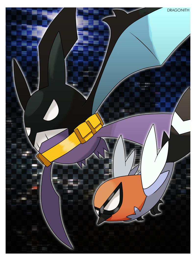 Fanart - Crobatman and Robin by Dragonith