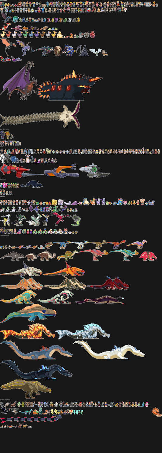 Starbound - A Whole Buttload of Sprites by Dragonith on
