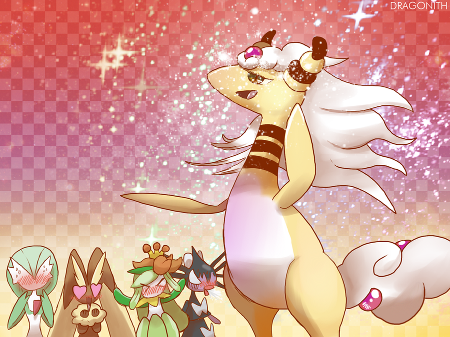 suggest an avatar for the one above you Mega_ampharos_by_dragonith-d6hb88v