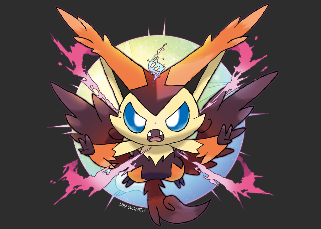 Mega Victini by Dragonith