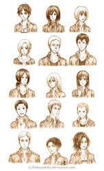 Attack on Titan Character Sketches