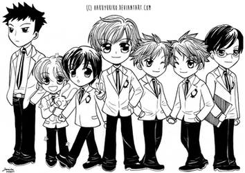 Chibi Ouran High Host Club by hakuyukiko