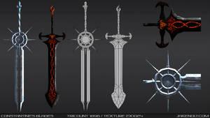 Constantine's Blades Wireframe