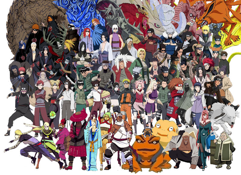 NARUTO SHIPPUUDEN CHARACTERS By TruwEvlad