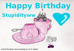Happy b-day for Stupidityww by TatterTotMinion
