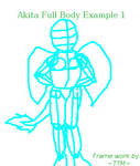 Akita Full Body Ex1 by TatterTotMinion