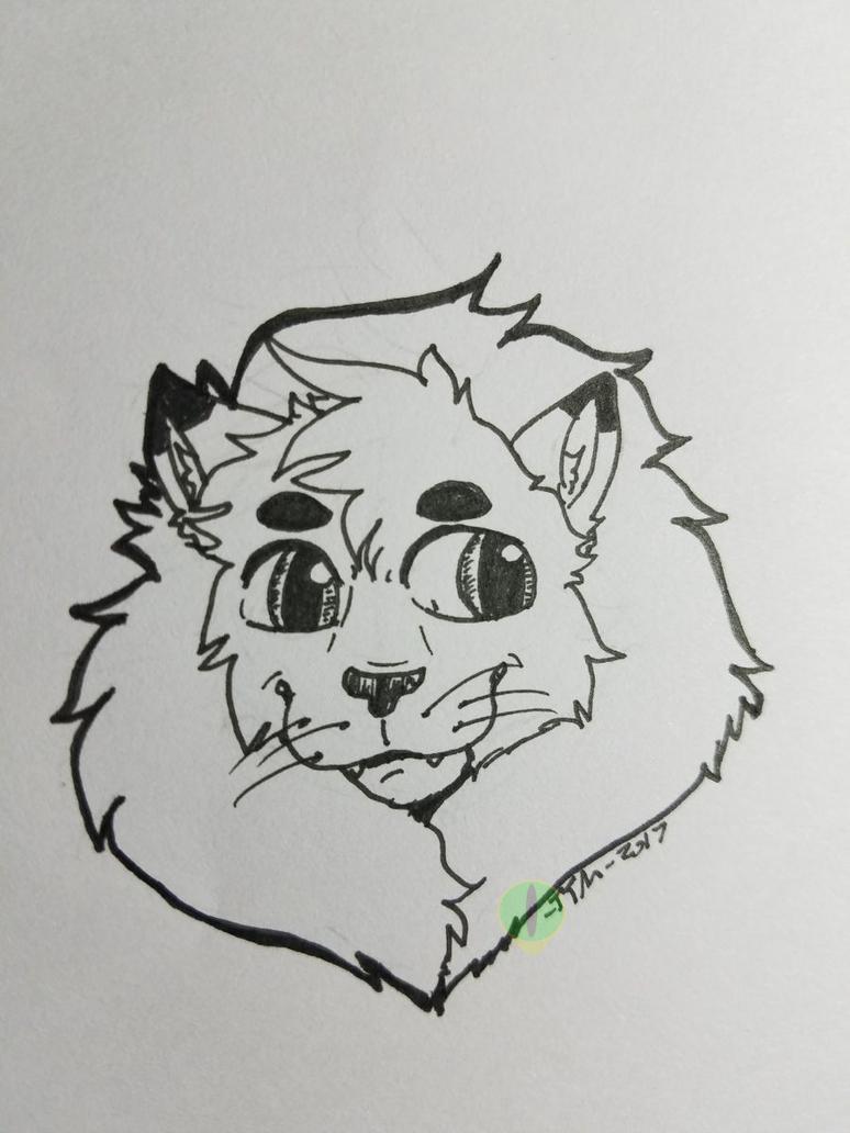 Lion doodle! by TatterTotMinion